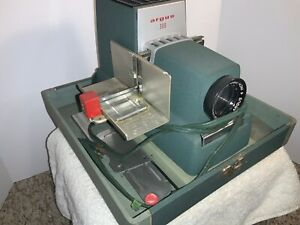 Auto Slide Projector w/ case Argus 300 and Manual Vintage  replacement parts
