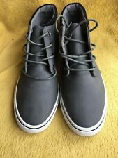 MENS NEW LOOK HI TOP TRENDY TRAINERS SNEAKERS BOOTS GREY WHITE SIZE UK 8 / 42