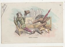 Forte Vivace Comic Piano Music Barcelona Spain 1905 Postcard 700b