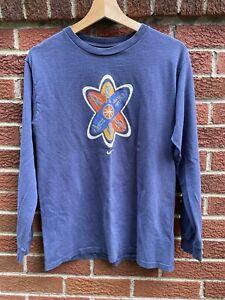 Vintage Nike YOUTH LARGE Y2K Long Sleeve Blue T-Shirt Robot Alien Spaceship Atom