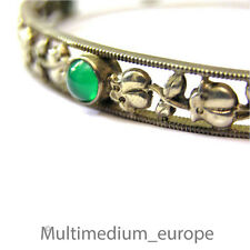 Jugendstil Armreif Oberarmreif  Silber Chrysopras Cabochons silver bracelet 1900