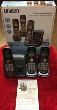Uniden Digital Answering System D1484-3T w/3 Speakerphone Handsets Energy Star