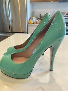 Gucci High Heels Green Pumps