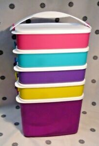 NEW Tupperware Picnic Click to Go Stacking Snack Set with 3L Drink Dispenser