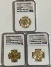 2019 P D & S AMERICAN INNOVATION $1 New Jersey 2 BU coins & 1 Reverse PF69