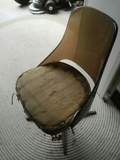 Vintage antique chair Sovereign Furniture Smoke Acrylic Back 4 Leg Swivel Chair