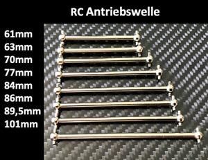 2x RC Dogbone Antriebswelle Antriebsknochen Achse Car 61 63 70 77 84 86 89,5 101