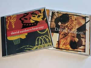"David Sanborn 2-CD LOT ""The Best Of David Sanborn"" & ""Hearsay"" CDs Great Albums!"
