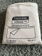 Trekking König De Hüttenschlafsack Jugendherbergs Schlafsack 100% Baumwolle
