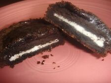 "OREO Stuffed CHOCOLATE BROWNIES or CHOCOLATE CHIP BLONDIES Cookie Bars * 8"" pan"