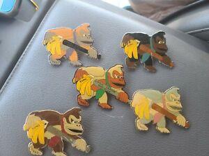 Set of 5 vintage  District 30 CA donkey kong League Pin Set