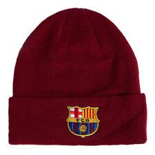FC Barcelona Borgogna Colore Polsino a Maglia Cappello Berretto Cappello  Invernale Regalo di Natale NUOVO 36bde0234996
