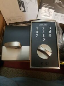 Schlage Touch Deadbolt Satin Nickel BE375 V CEN 619 New in Box model 24529992