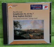 Beethoven: Symphonies Nos. 4 & 7; King Stephen Overture CD Jun-1992 George Szell