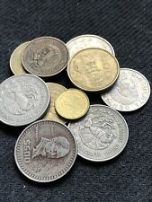 One Lot Of Mexican Coins 4-500 Pesos 3-100 Pesos 1-5 and 1- Cinquenta and 1-5