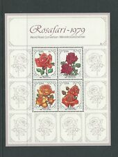 1979 Roses Show Mini Sheet  MUH/MNH As Issued Value Here