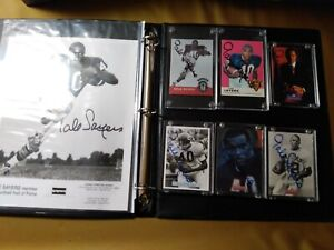The Best Collection of Gale Sayers autographed picture and cards