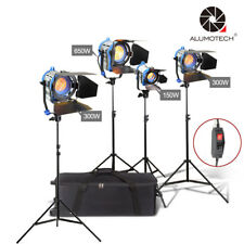 As Arri Dimmer Built-in 150W+300W*2+650W Tungsten Spot light +case+stand*4+globe