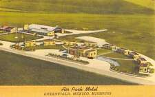 Mexico Missouri Greenfield Air Park Motel Antique Postcard K52924