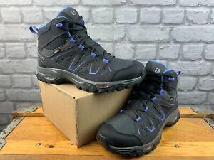 SALOMON LADIES UK 6.5 EU 40 TIBAI MID GTX GREY PURPLE WALKING BOOTS C