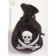 Pirate Pouch Skull Treasure Island Ship Fancy Dress Costume Accessory