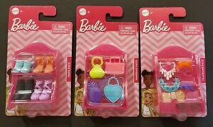 2020 Mattel BARBIE Fashion Accessories SHOE/HEADBAND/HANDBAG set of 3 FREE SHIP!