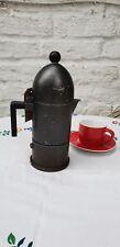 Vintage Alessi Stovetop Espresso Moka Maker La Cupola Black 4 Cup Italian