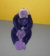 "15"" Berkeley Design Deep Purple Bean Plush Stuffed Monkey Ape w/ Hanging Paws"