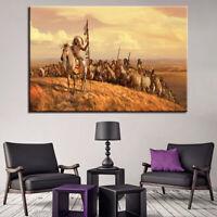 Native American Indian War 1 Panel Canvas Print Wall Art
