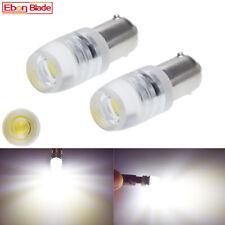 2Pcs BA9S T4W 1895 White LED Car Bulbs COB 1W Interior Side Marker Light Lamp 6V