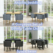 Elegant Dining Table with 4 Chairs Space Saver Set Coffee Table Chairs