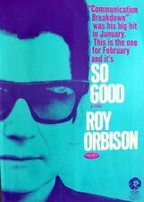 ROY ORBISON 1967 original POSTER ADVERT SO GOOD