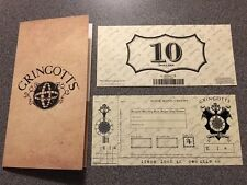 New Wizarding World of Harry Potter Diagon Alley Gringotts Bank Note 10