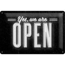 BLECHSCHILD 22211 - YES, WE ARE OPEN - 20 x 30 cm - NEU