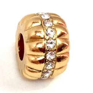 Brighton Glamour Stopper Bead, Gold Finish, J96322, New