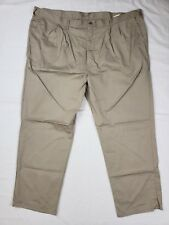 Dickies Insect Shield Repellent Mens Khaki Cotton Pleated Work Pants SZ 48X32