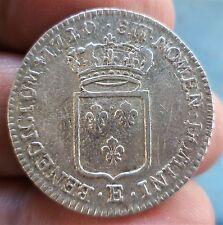R4 RARE ET BEAU 1/3 ECU DE FRANCE LOUIS XV 1720 TOURS