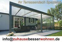 Top Alu Terrassenüberdachung Terrassendach VSG Glas Farbe Anthrazit 600 x350cm