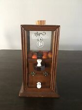 Vintage Wooden Glass One Cent Gumball Machine