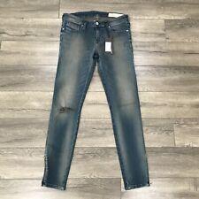 New Diesel Skinzee Low Waist Zip Super Slim Skinny Jeans Womens W28 X L30