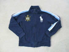Ralph Lauren Polo Sweater Youth Large Blue White Big Pony Argentina Kids Boys