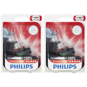 2 pc Philips H11XVB1 XtremeVision Headlight Bulbs for BPH11BLX BPH11NVVN fh
