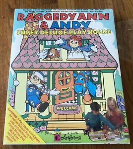 Vintage 1974 Raggedy Ann Doll House Colorforms Activity Toy 4090 Factory sealed