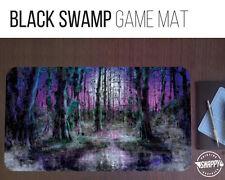 "Black Swamp Land Game Mat - 12"" x 22"" Neoprene - MTG Magic Card Desk Mat"