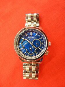 CITIZEN ECO DRIVE - Men's Stainless  with Blue Face 8729-R005791 Wrist Watch