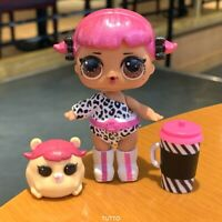 With PET LOL Surprise Big Sister Glam Glitter CHERRY dolls toy dress as Pic.