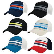 Callaway Stripe Mesh Fitted Cap Golf Hat 2017 - WHITE/NAVY - S/M