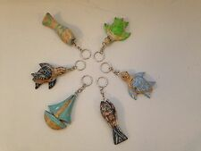 Pair Of Driftwood Beach Themed Key rings. Fair Trade.