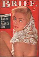 Brief Digest August 1953 Elaine Stewart Cheesecake Pin Up 070819AME