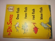 1960 One Fish, Two Fish, Red Fish, Blue Fish by Dr. Seuss Hardcover Book Club